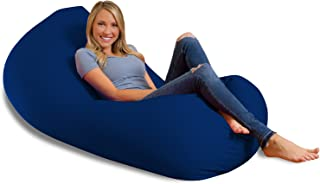 Big Squishy Portable and Stylish Bean Bag Chair, Large, Blue