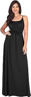 Womens Sexy Spaghetti Strap Sleeveless V-Neck Floor Length Maxi Dress