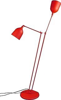 Aluminor TWIN LS R Lampadaire, métal, E27, 40 W, Red, 33,5 cm