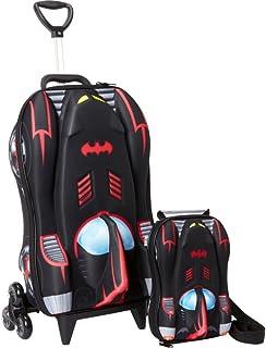 Mochila Escolar 3d Com Lancheira Maxtoy Batman Batmovel