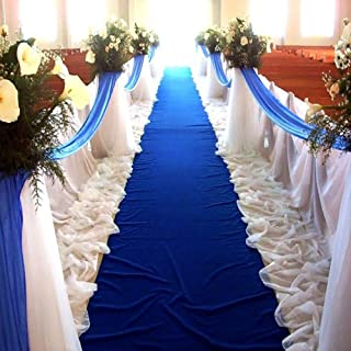 PAOPU Aisle Runners Wedding Rugs 2mm Royal Blue Aisle Runner Carpet Rugs for Step and Repeat Display Ceremony Parties and Events Indoor or Outdoor Decoration Royal Blue Wedding Rugs 2ft×16ft