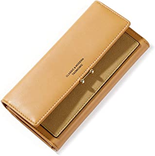 VOCUS Trifold Wallet for Women Clutch Long Wallet Ladies Phone Purse with Credit Card Holder