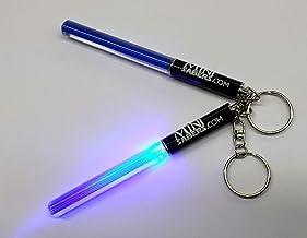 Blaues Mini-Lichtschwert , Schlüsselring, für Partys, Star Wars Club-Lichtstäbchen , tanzendes LED, Jedi Partygegenstand, sehr cool  in rot, grün oder rosa (blau)