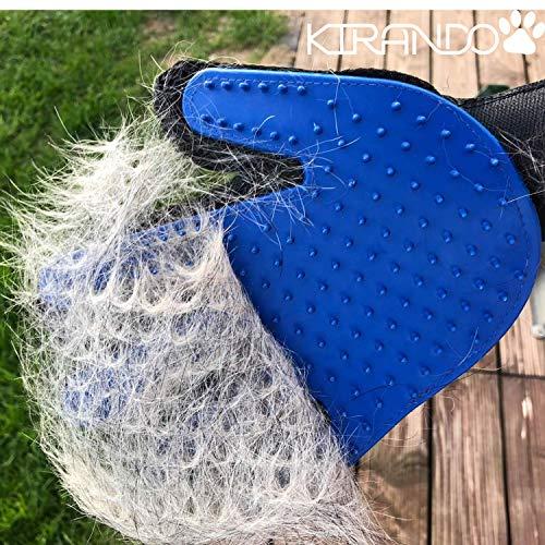 Kirando's Premium Fellpflege-Handschuh | besonders effiziente und schonende Tierhaar-Entfernung! | Reinigung, Pflege & Massage in einem Schritt für ihren Hund oder Katze! - 8
