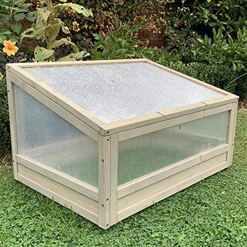 FeelGoodUK Cold Frame Greenhouse Flower Planter Green House Wooden Frame 44 (h) x 51 (d) x 75 (w)…