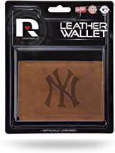 (New York Yankees) - New York Yankees Official MLB Leather Trifold Wallet NY by Rico Industries