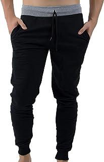 Calça Moletom Masculina Abrigo Swag Slim Fit Moleton Bolso Preta