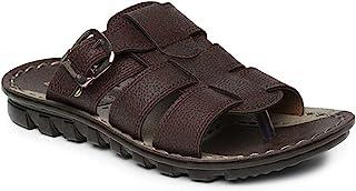PARAGON Men's Brown Formal Thong Sandals - 7 UK/India (41 EU)(PU6727-65)
