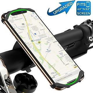 VUP 自転車ホルダー スマホホルダー 改良モデル 360度回転 4-6.5インチ iPhone11 iphone11pro Android等全機種対応 振れ止め 脱落防止 メーカー直営店 1年間保証 黒