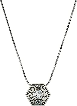 Deco Solitaire Pendant Necklace