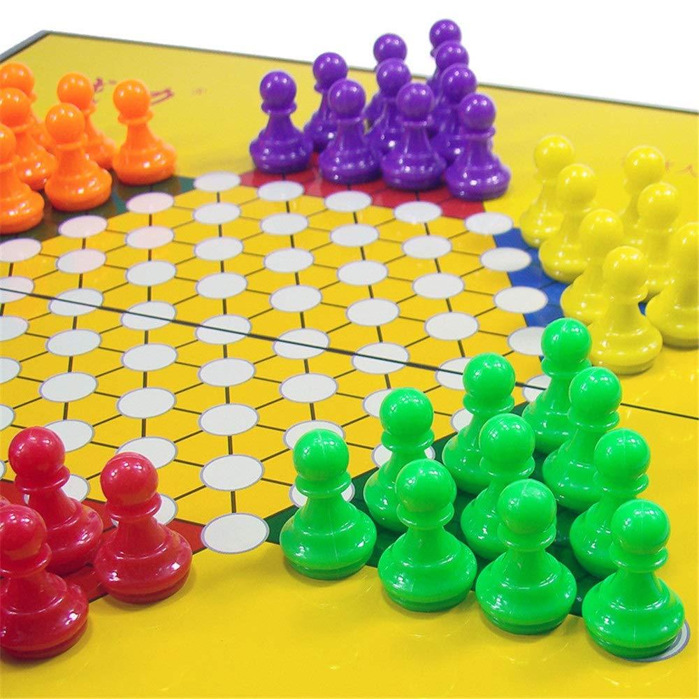 WyaengHai Damas Chinas Juegos De Guardería Chinese Checkers Tabletop Juguetes Eléctricos Juego De Regalo De Cumpleaños Damas Chinas De Madera (Color : True Color, Size : 29.5x28.5cm): Amazon.es: Hogar
