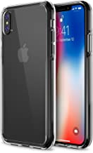 "Trianium Case Compatible for Apple iPhone X Case 2017 ONLY (5.8"" Display Phone) Clarium Series with Reinforced TPU Hybrid Cushion and Rigid Back Panel Covers [Enhanced Hand Grip] - Clear"