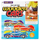 Made By Me Build & Paint Your Own Wooden Cars by Horizon Group Usa, DIY Wood Craft Kit, Easy To Assemble &...