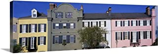 GREATBIGCANVAS Gallery-Wrapped Canvas Rainbow Row Historic District Charleston SC by 48