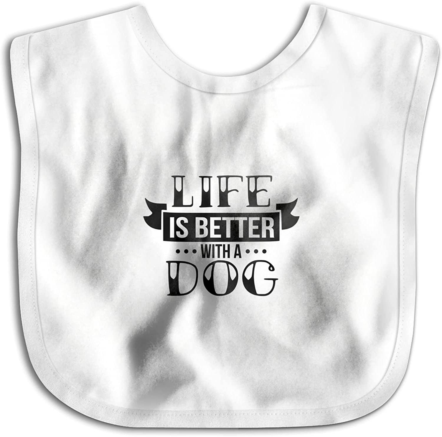 Life Columbus Mall Is Better With Mail order A Dog Wrap Bib Skin Baby Skin-Friendly