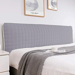 Funda de cabecera de cama Funda protectora de cabecera extensible Respaldo de la cabecera del dormitorio Funda antipolvo Funda de cojín de cabecera extraíble y la(Color:gris claro,Size:220cm/86.6in)