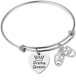 Drama Queen Theater Bracelet Keychain Comedy Tragedy Masks Charm Bracelet Jewellery