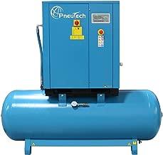 PneuTech 15 HP Rotary Screw Air Compressor, 230 Volt, 3 Phase, 55 CFM @ 125 PSI, Tank Mounted