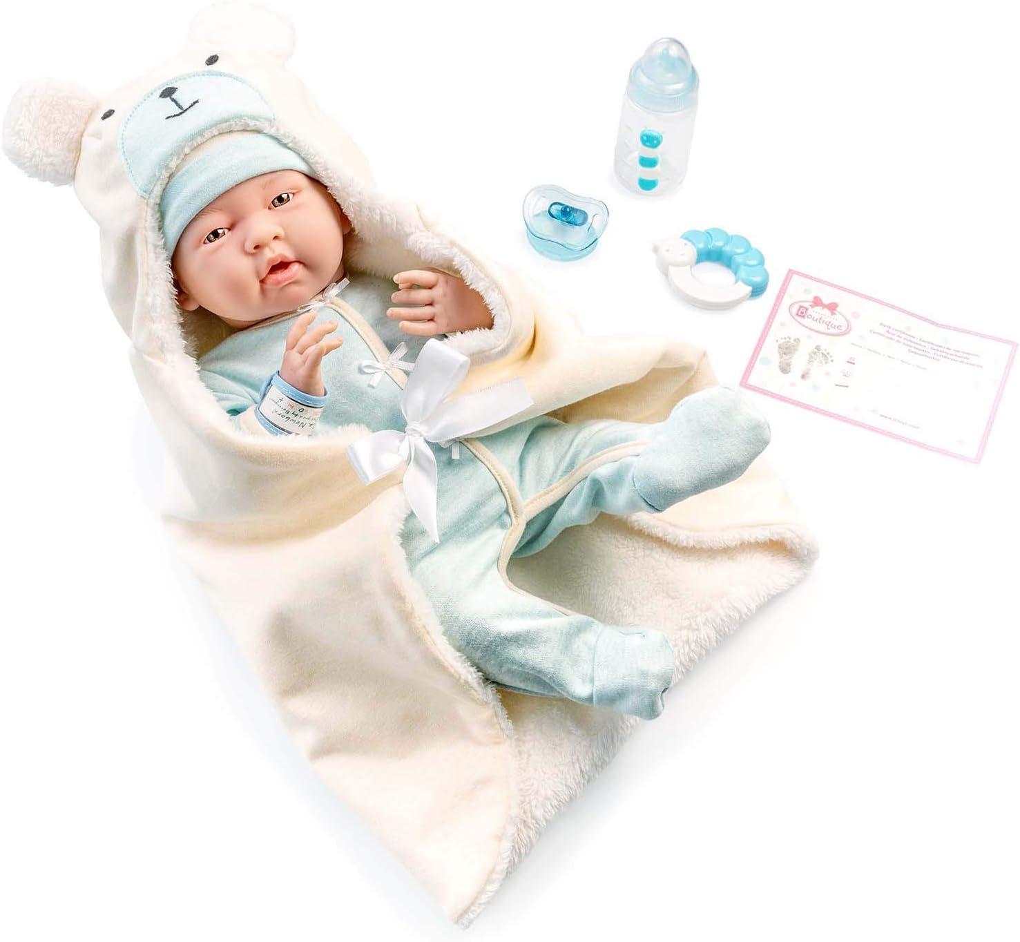 JC TOYS-La Newborn Muñeco bebé, Color Azul (18790)