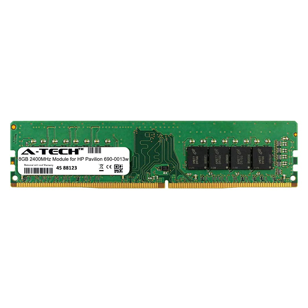 A-Tech 8GB Module for HP Pavilion 690-0013w Desktop & Workstation Motherboard Compatible DDR4 2400Mhz Memory Ram (ATMS311650A25820X1)