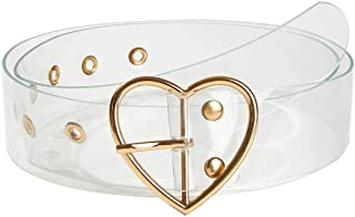 Clear Heart Belt For Women Girl With Grommet Adjustable Plastic Belts