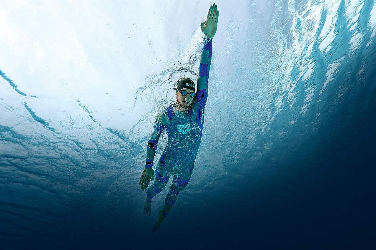 arena Men/'s SAMS Triathlon Wetsuit Full Sleeve Shark Deterrent Neoprene for Open Water Swimming Ironman and USAT Approved