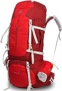 Outdoor Mountaineering Bag Multi-Function Shoulder Bag Male Waterproof Large Capacity Travel Backpack Female 55L70L QYLOZ (Color : B, Size : 70cm×30cm×21cm)