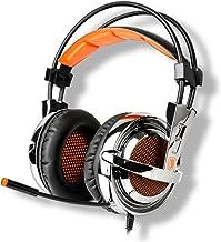Sades SA-928 Gaming Professionnel Casque Headset sur Oreille Serre-tête avec réglage de Volume de Microphone de Haute sens...