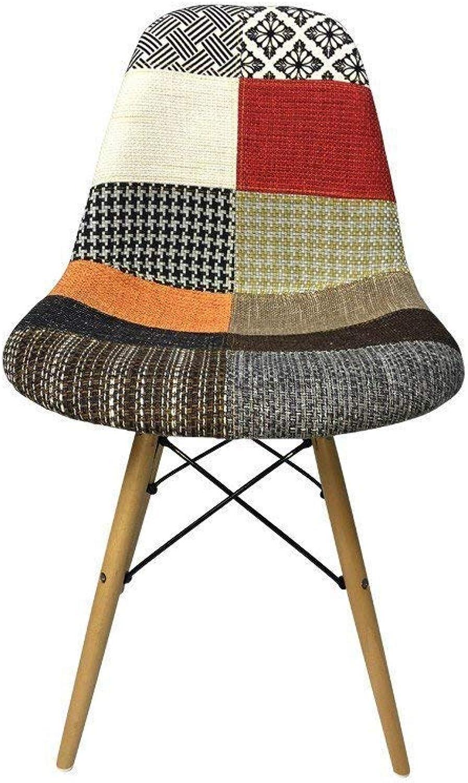 DSW Eiffel Dining Chair, Patchwork G Fabric