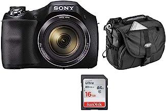 Sony Cyber-Shot DSC-H300 Digital Camera, 20.1MP, 35x Optical Zoom, Black - Bundle with 16GB Class 10 SDHC Card, Camera Bag