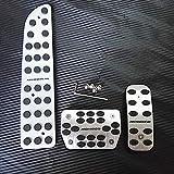 SBCX Accesorios para automóviles, Ford Mondeo AT 2013 2014 2015 2016, Kits de Pedal de reposapiés de Freno Cubierta Etiqueta de diseño Antideslizante no perforante