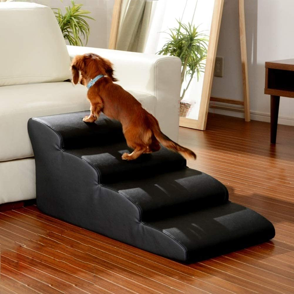 Escaleras y escalones Escalera Port/átil con Rampa para Mascotas para Perros Grandes//Medianos Gatos Soporte De 198 LB Escalera Antideslizante F/ácil De Subir Escalera para Sof/ás De Cama Alta