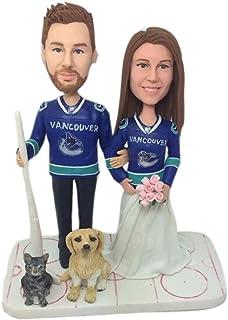 Hockey su ghiaccio Regalo di San Valentino Figurine di argilla personalizzate Bobble Head basate sulle foto dei clienti us...