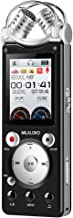 Digital Voice Recorder,8GB Memory Professional Audio Sound Recorder Dictaphone for Lectures,V3 Voice Activated Recorder with Playback Variable Speed MP3, FM Radio