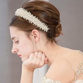 fxmimior - Fascia per capelli da sposa con perle di Boemia, per feste e matrimoni anni '20, per donne