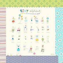 Oopsy Daisy Canvas Wall Art Tiny Alphabet by Jill McDonald, 24 by 24-Inch