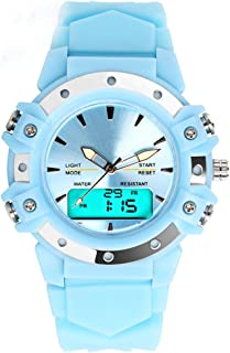 TOPCABIN Women Watch Analog Digital Men Watch LED Sport Dual Time Back Light Alarm Wrist Watch for Girls