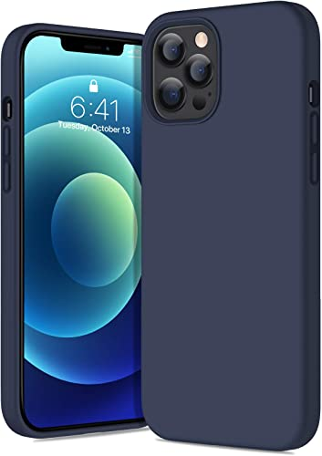 popular Diaclara Compatible with iPhone 12 Pro Max Case(6.7 Inch,2020), Slim Thin Liquid Silicone sale Rubber Gel new arrival Case with Shockproof Full Body Protection Designed for iPhone 12 Pro Max,Navy Blue outlet online sale