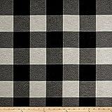 Fabric''Artistry Buffalo Check Jacquard Black/White'