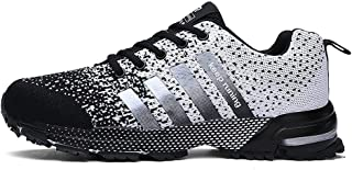Ahico Running Shoes Men - Air Cushion Mens Women Tennis Shoe Lightweight Fashion Walking Sneakers Breathable Athletic Training Sport for Womens