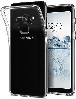 REY Funda Carcasa Gel Transparente para Samsung Galaxy A8 2018 / Galaxy A5 2018, Ultra Fina 0,33mm, Silicona TPU de Alta Resistencia y Flexibilidad