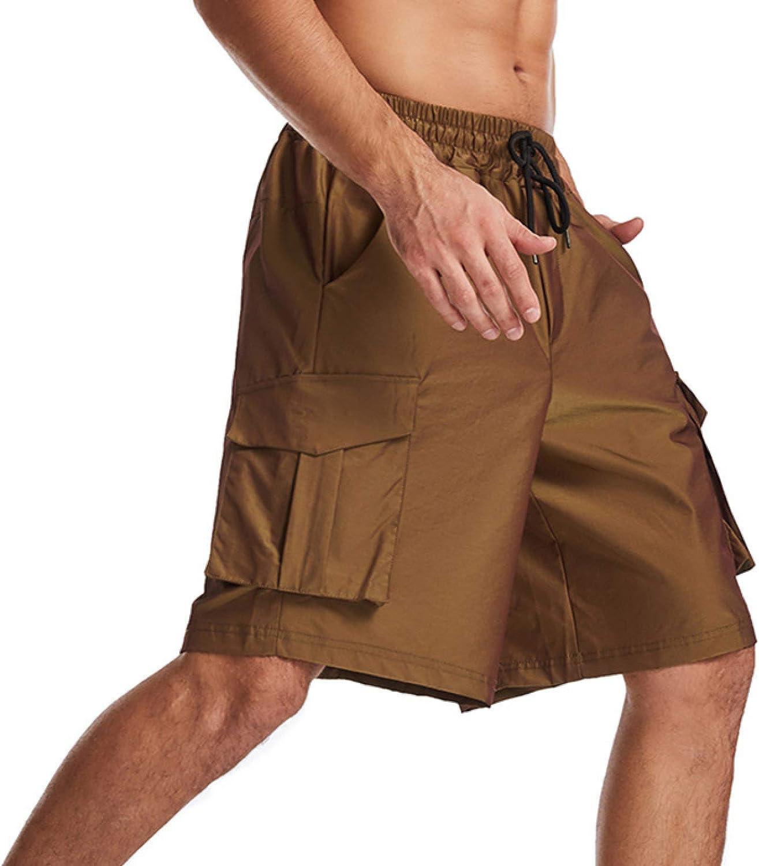 Jubaton European and American Multi-Bag Cargo Shorts Men's Fashion Color-Changing Woven