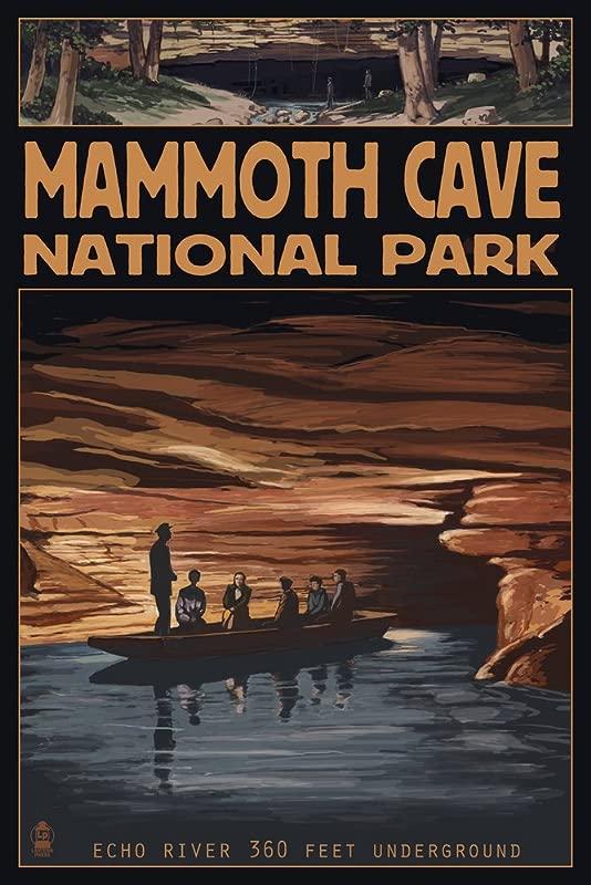 Mammoth Cave National Park Kentucky Echo River 9x12 Art Print Wall Decor Travel Poster
