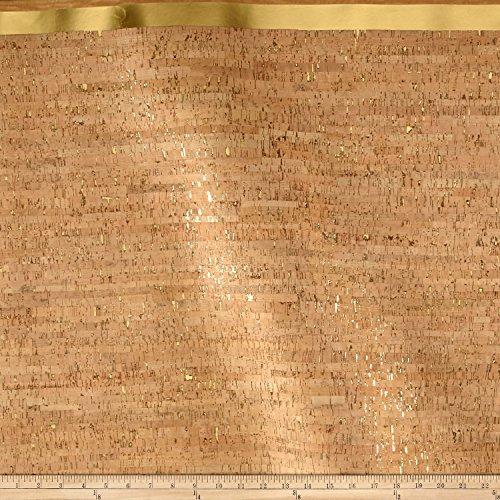 Brewer Sewing EverSewn Cork Fabric 1 Yard Natural with Gold Flecks