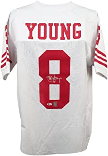 Steve Young Autographed San Francisco 49ers Custom White Football Jersey BAS COA