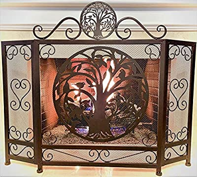 BestGiftEver Tree of Life Metal Fireplace Screen from Marco International, Inc.
