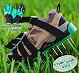 Lawn Aerator Spiked ShoesHeavy Duty Metal Buckles, 4 Adjustable Straps and Sharper Spikes for Effective Soil Aeration and Greener YardOne Size Fits AllIncludes Storage Bag and Garden Gloves