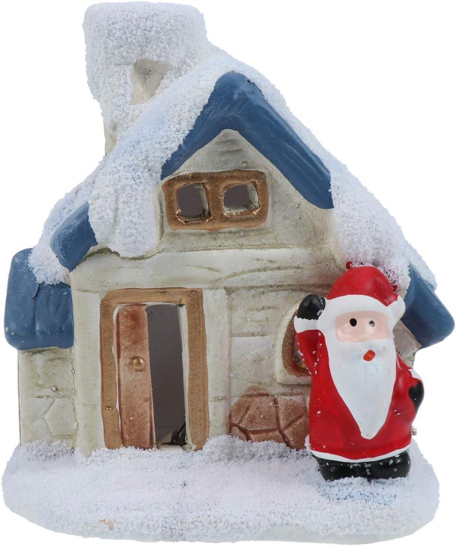 Toddmomy Christmas Village House Decoration C Under blast Max 86% OFF sales Santa Luminous LED