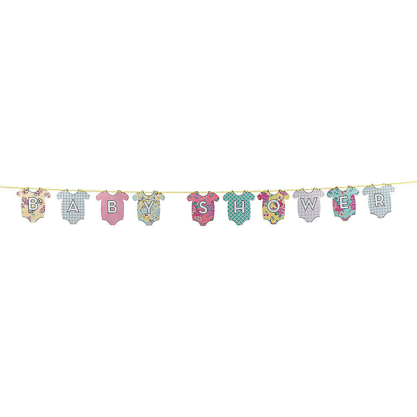 Fun Express - Truly Baby Shower Garland for Baby - Party Supplies - Licensed Tableware - Misc Licensed Tableware - Baby - 1 Piece