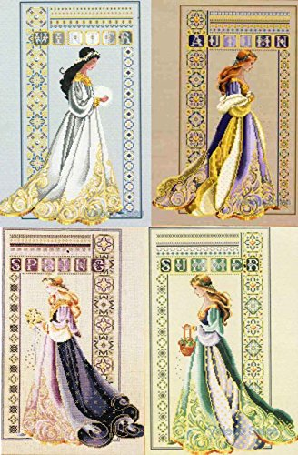 Lavender & Lace Counted Cross Stitch Charts Set of 4 ~ CELTIC #LL